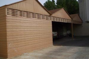 مظلات:سواتر جدران خشب بلاستيك مجدول بألوان متعددة 0509913335